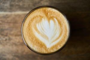 Latte Food Background Wood Espresso Coffee